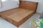 Giường ngủ gỗ Sồi Mỹ có hộc tủ nhà Chị Bình, Bình Tân, TPHCM