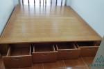 Giường ngủ gỗ Sồi có hộc tủ nhà Anh Duy, Tân Phú, TPHCM
