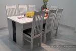 Bộ bàn ăn 6 ghế gỗ Sồi sơn trắng nhà Anh Nhật Quận 12, TP.HCM