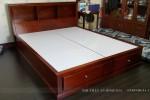 Giường ngủ có ngăn kéo gỗ Xoan đào nhà Cô Minh Phú Nhuận, TP.HCM
