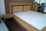 Giường ngủ kiểu Nhật gỗ tự nhiên Sồi Mỹ nhà Anh Nam, Tân Bình, TPHCM