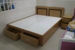 Giường ngủ có ngăn kéo gỗ Sồi Mỹ nhà Chị Vân, Nhà Bè, TPHCM