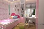 Phòng ngủ bé gái nhà Chị Lành, Gò Vấp, TPHCM
