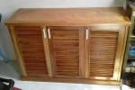 Tủ giày dép 3 cánh gỗ Xoan Đào tự nhiên nhà Anh Tuấn, Thủ Đức, TPHCM