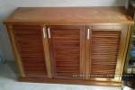 Tủ giày gỗ Xoan đào tự nhiên nhà Anh Tuấn Thủ Đức, TP.HCM