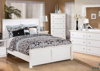 Bộ giường ngủ gỗ công nghiệp MDF-GCN01