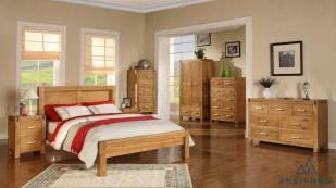 Bộ giường ngủ gỗ Sồi Mỹ - GTN 02