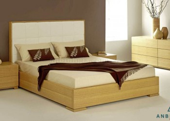 Giường gỗ MDF vân gỗ Sồi Mỹ - GCN 02