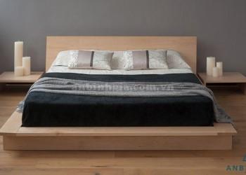 Giường thấp kiểu Nhật gỗ Sồi Mỹ - GKN 02
