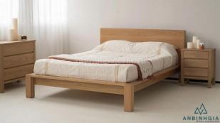 Giường gỗ Sồi Mỹ kiểu Nhật - GKN 03