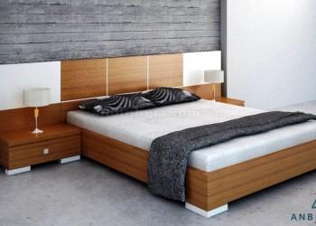 Giường ngủ gỗ MDF veneer Xoan Đào - 04