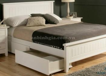 Giường gỗ MDF có ngăn kéo bên dưới - 04