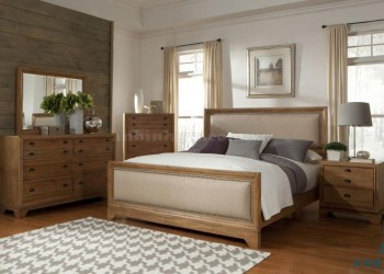 Giường gỗ Sồi Mỹ bọc vải - GTN 04