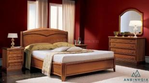 Giường ngủ đẹp bằng gỗ Xoan Đào - GTN05