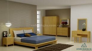 Giường kiểu Nhật gỗ Sồi Mỹ - GKN 05