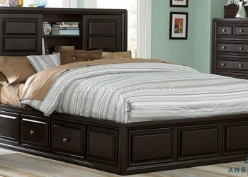 Giường gỗ Sồi Mỹ có ngăn kéo - GNK 06
