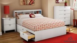 Giường hộp có ngăn kéo gỗ MDF - GNK 07