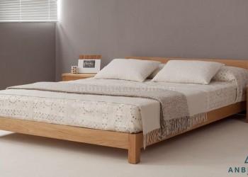 Giường ngủ gỗ Sồi Mỹ 1m6 - GTN 08