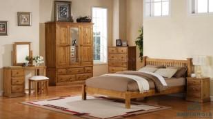 Bộ giường tủ bằng gỗ Sồi trắng - GTN 10