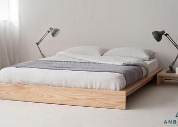 Giường ngủ thấp kiểu Nhật gỗ Sồi - GKN 12