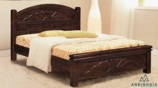 Giường gỗ Sồi Mỹ kiểu cổ điển - GTN 12