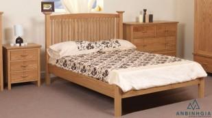Giường gỗ Sồi trắng tự nhiên 1m6 - GTN13