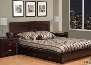 Giường kết hợp ngăn kéo gỗ Sồi - GNK 13