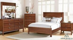 Bộ giường ngủ gỗ Xoan Đào - GTN 15