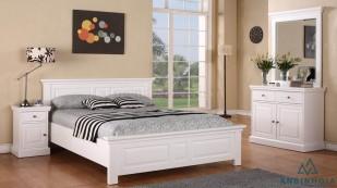 Giường gỗ công nghiệp MDF màu trắng - 15