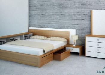 Giường ngủ gỗ MDF có hộc tủ - GNK 16