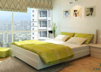 Giường gỗ ép MDF 1m6 x 2m - GCN 16