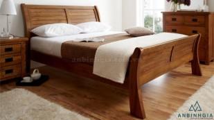 Giường gỗ nguyên khối Xoan Đào - GTN17