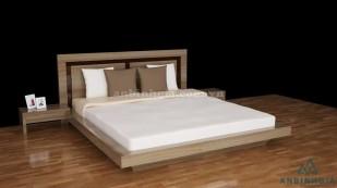 Giường kiểu Nhật gỗ MDF Laminat -GKN 18