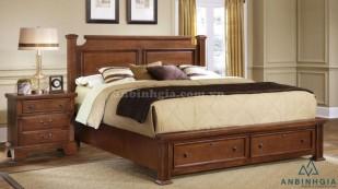 Giường ngủ có hộc gỗ Sồi Mỹ - GNK 19