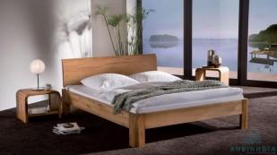 Giường ngủ gỗ tự nhiên Sồi Mỹ - GTN 20