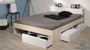 Giường ngủ gỗ MFC có hộc tủ - GNK 20