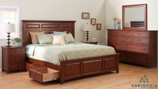 Giường có ngăn kéo gỗ Xoan Đào-GNK 23