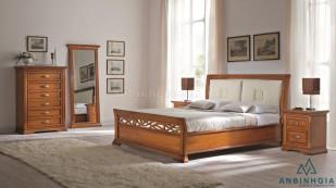 Giường gỗ Xoan Đào bọc da - GTN 25
