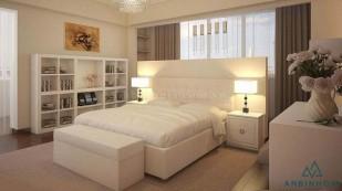 Giường ngủ gỗ ép MDF màu trắng - GCN 27