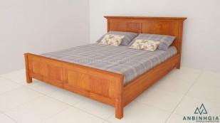 Giường gỗ tự nhiên Xoan Đào - GTN 27