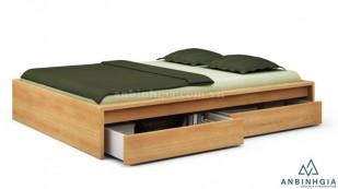 Giường ngủ gỗ Sồi có hộc tủ - GNK 28