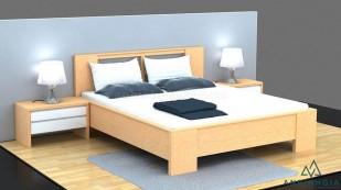 Giường ngủ làm bằng ván ép MDF - GCN 28