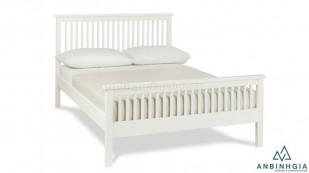 Giường bằng gỗ Sồi Mỹ sơn trắng - GTN 31