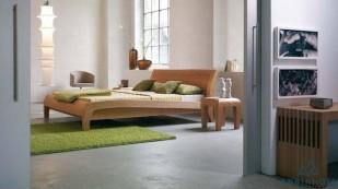 Giường gỗ Sồi Mỹ đuôi cong - GTN 32