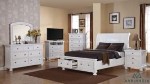 Giường có ngăn kéo gỗ Sồi Mỹ - GNK 37