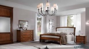 Giường gỗ Sồi trắng bọc simili - GTN 37