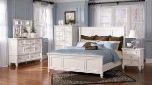 Giường ngủ gỗ Sồi sơn trắng - GTN 38