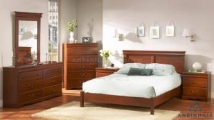 Giường gỗ Xoan Đào nguyên khối - GTN 48