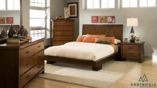 Giường ngủ gỗ Sồi trắng tự nhiên - GTN 53