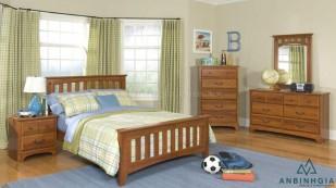 Giường gỗ Sồi trắng kiểu cổ điển - GTN 54